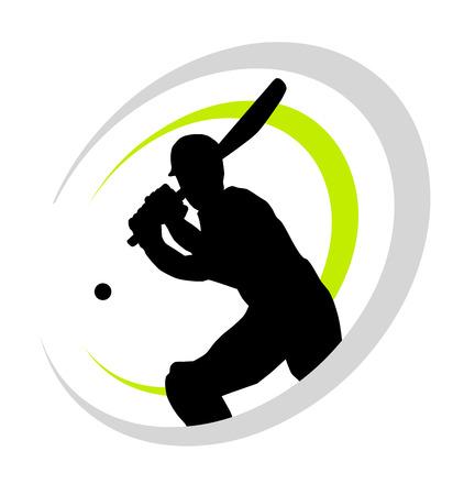 クリケット選手イラスト  イラスト・ベクター素材