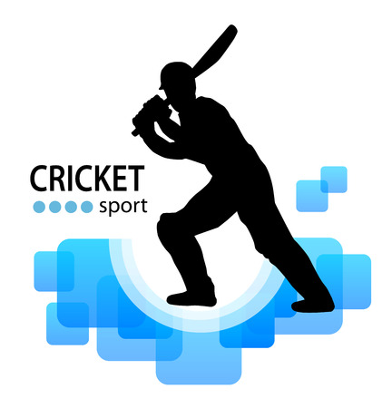 cricket sport illustration  Stock Photo