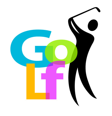 Golf sport logo Vector