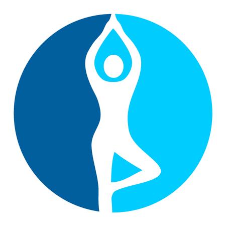Yoga workout button