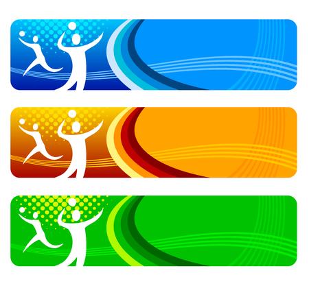volleyball sport banner