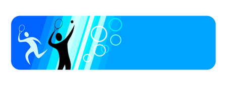 tennis banner for internet Illustration
