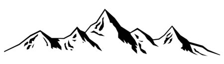 Abstract mountains illustration in black