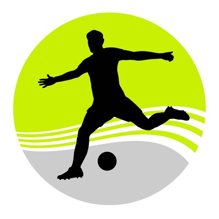 Soccer player in action 向量圖像