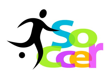 Abstract soccer sport icon design