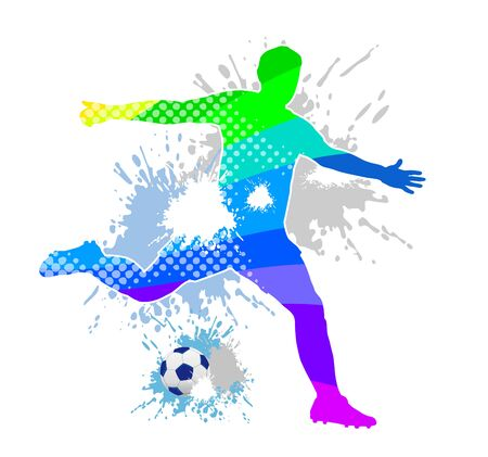 Abstract soccer player illustration 向量圖像