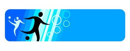 Soccer sport banner 向量圖像