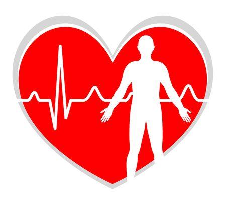 Electrocardiogram icon design