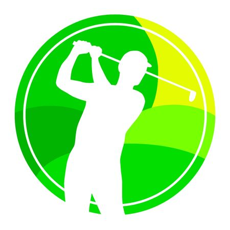 Golf sport with green button