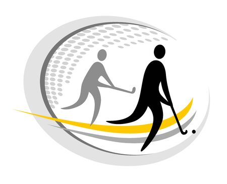 Field hockey sport icon design