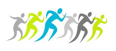 Running people icon design  イラスト・ベクター素材