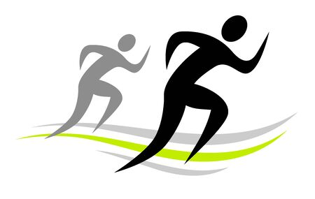 Two runners icon design