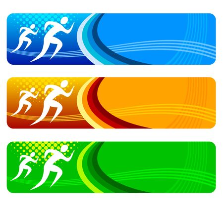 Running sports banner for website