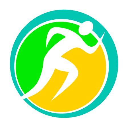 Runner icon design  イラスト・ベクター素材