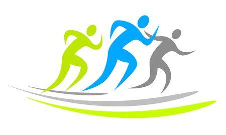 Running sports icon design