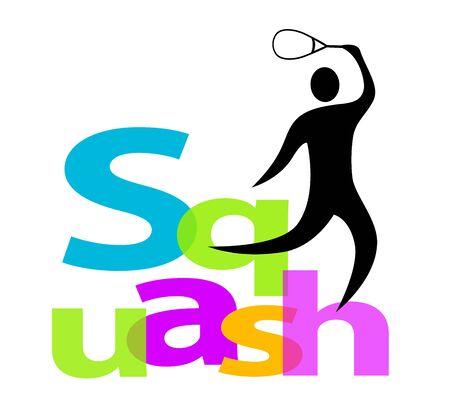 Conception d'icône de sport de squash