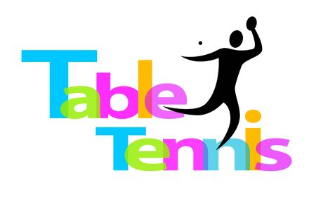 Table tennis icon design 矢量图像