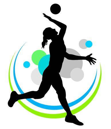 Volleyball silhouette icon design