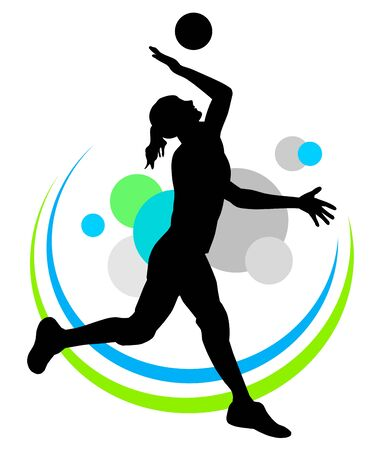 Volleyball silhouette icon design