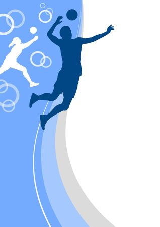 Volleyball player sports poster