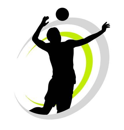 Volleyball sport icon design