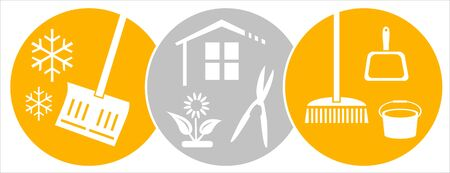 House and garden icons