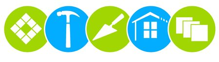 Tiler symbols vector icons