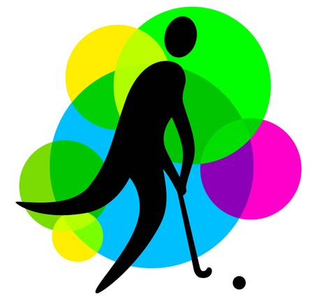 Abstract field hockey player