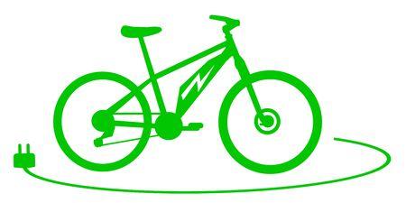 Ilustración de vector de bicicleta eléctrica