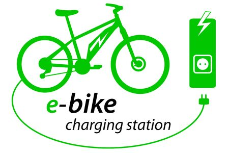Electric bike with charge station