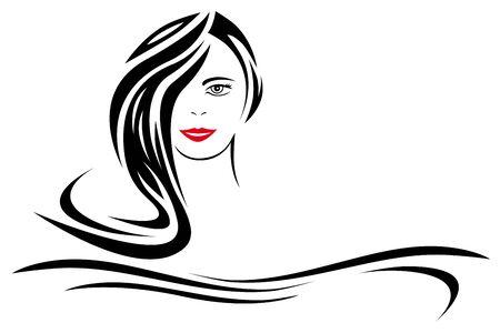 Hair and beauty salon icon Иллюстрация