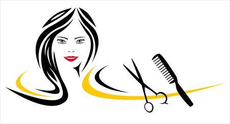 Beauty hair shop Иллюстрация