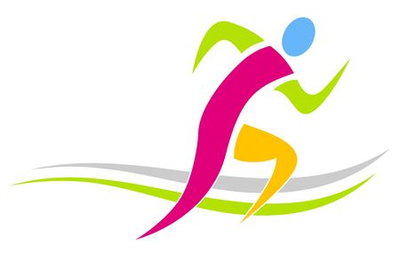 Abstract runner icon design