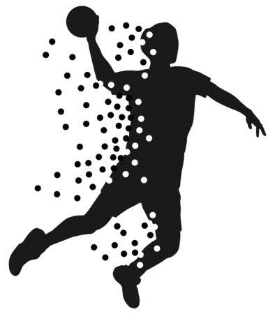 Abstract handball player vector illustration Illustration