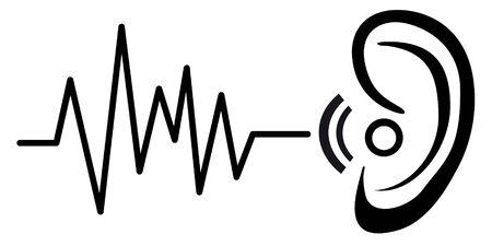 Hearing aid service vector illustration