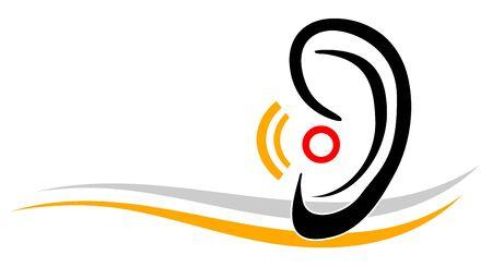 Hearing aid vector illustration