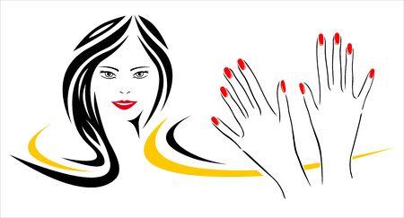 Nail studio vector illustration
