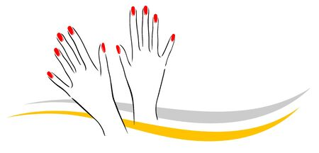 Abstract nail studio vector illustration 일러스트