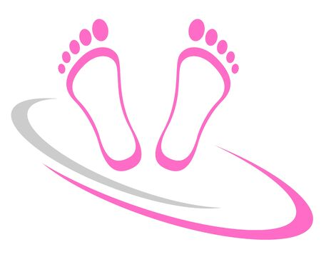 Feet massage icon design Ilustrace