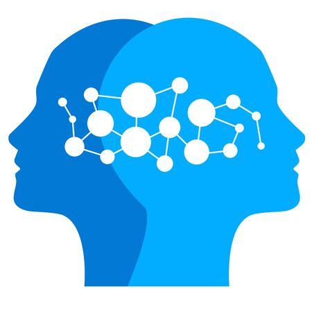 Brain vector illustration Vettoriali