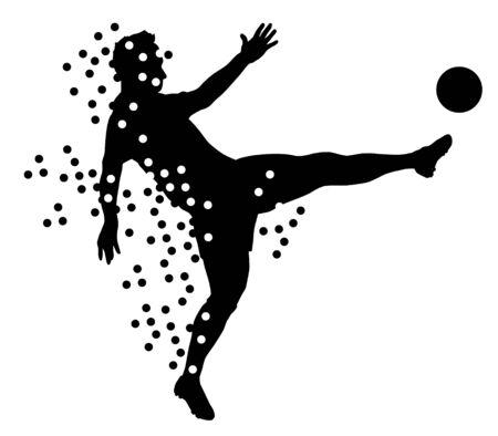 Abstract soccer vector illustration Stock Illustratie