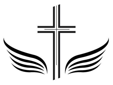 Illustrazione vettoriale di icona commemorativa croce