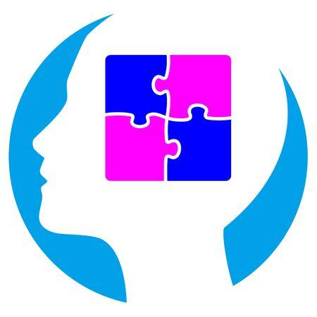Psychology icon vector illustration Illustration