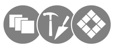 Illustration vectorielle de carreleur service