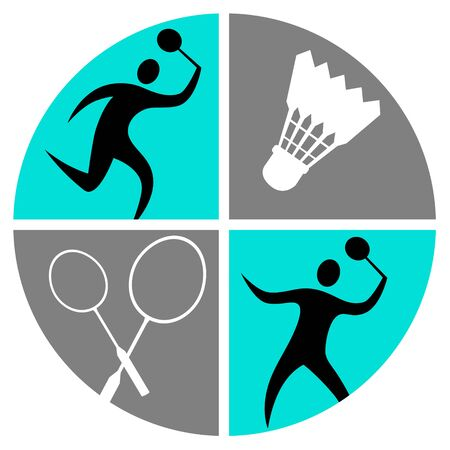 Badminton sport vector illustration