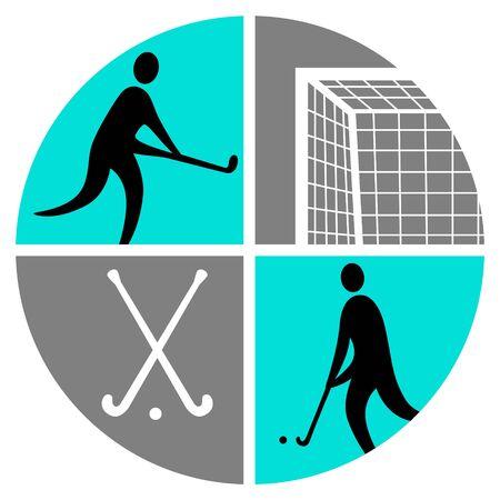 Field hockey vector illustration