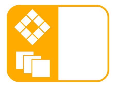 Carreleur service icône illustration vectorielle