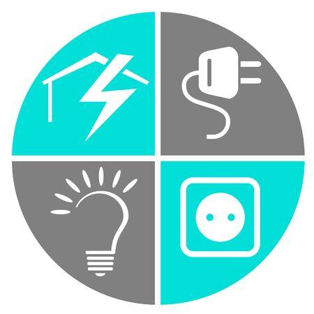 Illustration vectorielle de service électricien