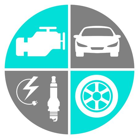 Car service vector illustration Ilustracja