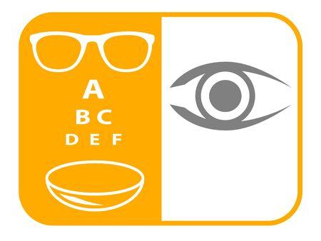 Ilustracja wektorowa usługi optycznej Ilustracje wektorowe